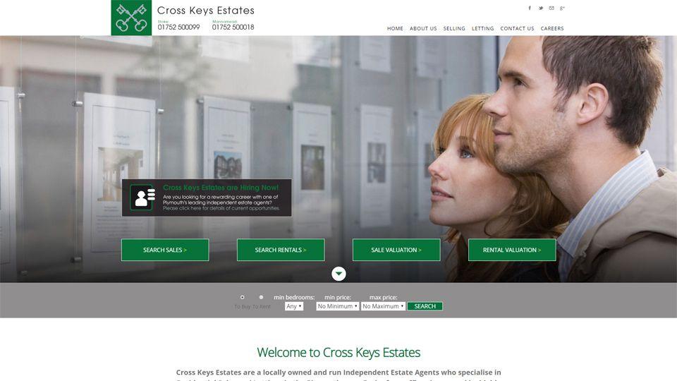 Cross Keys Estate Agents website screenshot