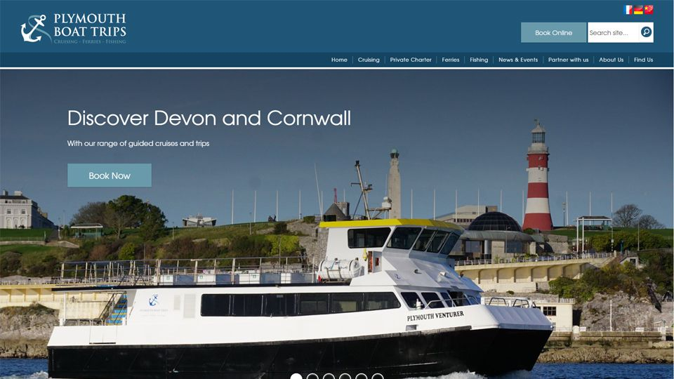 Plymouth Boat Trips website screenshot